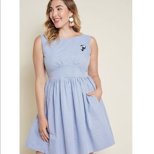 Emily and Fin Day Off Darling A-Line Dress Stripes